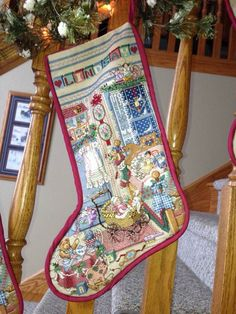 Counted Cross Stitch Christmas Stocking..