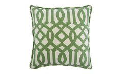 Green Trellis Pillow   Nest and Burrow