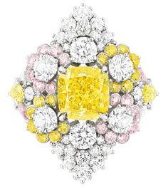 Cher Dior Etincelante Fancy Yellow Diamond ring ~ Victoire de Castellane's new colourful collection of Dior haute joaillerie is the stuff of fantasy.