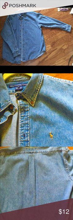 Ralph Lauren Sports XL Denim L/S shirt Ralph Lauren Sports XL Men's Long sleeve shirt Ralph Lauren Sport Shirts Casual Button Down Shirts
