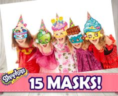 SHOPKINS MASKS 15 different styles Shopkins by DecorationsLeon