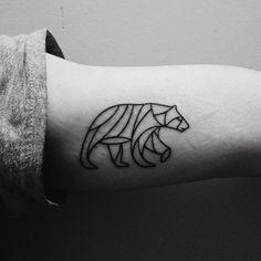 Bear #tattoo. Illustration done by Scott Allen Hill.