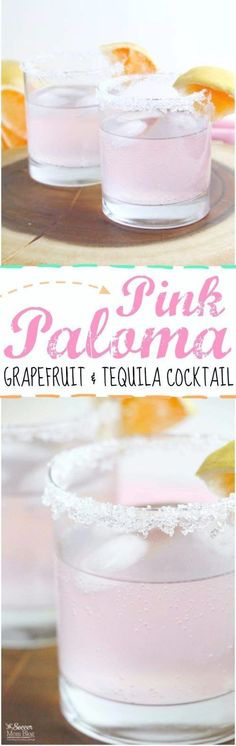 This gorgeous Sparkling Pink Paloma Cocktail Recipe will change the way you look at tequila! A festive drink perfect for brunch, parties, and holidays. #cocktailrecipes