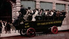 Let's take a bus tour of the city of Detroit