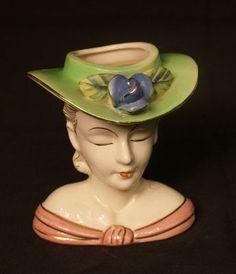 1950's Lady Head Vase