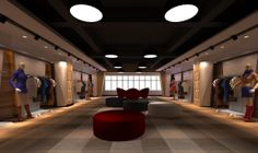 ladies boutique interiors | Ms. boutique interior design 3D 3d Interior Design, Boutique Interior Design, Showroom Design, Window Display Design, Shop Window Displays, Store Displays, Fashion Shop Interior, Fashion Design, Country House Plans