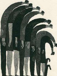 vjeranski:  people standing by aoki tetsuo