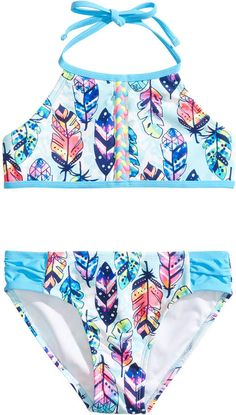 06bb42cdfa Breaking Waves 2-Pc. Feather-Print Bikini, Little Girls & Big Girls &  Reviews - Swimwear - Kids - Macy's. 10 Year Old GirlGirls SwimmingFeather  ...