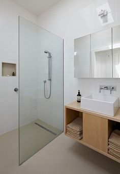 small bathroom design ideas walk in shower glass pratition wall linear shower drain