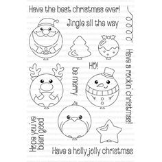 Clearly Besotted BEST CHRISTMAS Clear Stamp Set