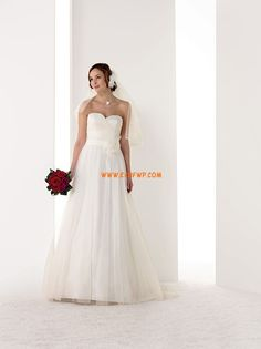 Summer Sleeveless Sashes/Ribbons Wedding Dresses 2014