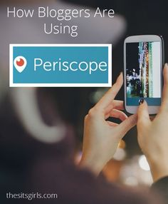 Great ideas for how bloggers can use Periscope + tips for setting up your account and starting your first broadcast! | Social Media Tips