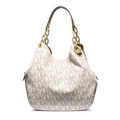 Michael Kors Fulton Vanilla Shoulder Handbag