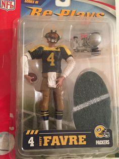 "Brett Favre NFL Packers 4"" Action Figure Helmet Buggy Re-Plays Series III #Gracelyn"