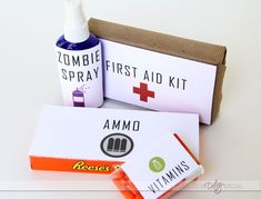 The Walking Dead boxes & medicines. Doable & cheap. X