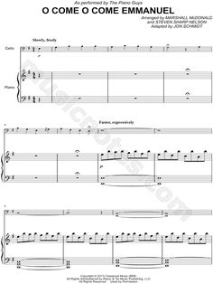 """The Piano Guys """"Angels We Have Heard on High"""" Sheet Music ..."""
