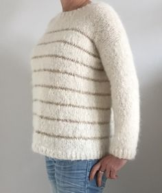 Pull à rayures tout doux - zaziefaitdutricot Pulls, Crochet, Pullover, Knitting, Sweaters, Minute, Gilets, Women, Inspiration