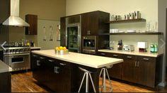 2011 Jeff Lewis Designs Los Bonitos Kitchen With Dark Wood