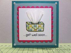 Get Well Soon Tissue card!