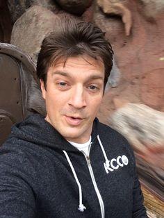 Nathan Fillion - Splash mountain selfie