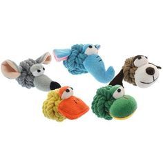 Multipet Rope Head Animals Assorted Rope Head Animals Assorted woven cotton ball with plush faces that squeak (dog, elephant, duck, mouse, frog) Small Dog Toys, Small Dogs, Dog Food Storage, Dog Shower, Dog Chew Toys, Dog Diapers, Dog Feeding, Dog Hoodie, Plush Animals