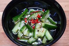 from chinese foody sichuan spicy cucumber salad sichuan spicy cucumber ...