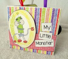 MY LITTLE MONSTER boys paper bag scrapbook album by lovethatscrap, $20.00