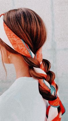 Scarf Hairstyles, Pretty Hairstyles, Hair Day, New Hair, Hair Designs, Hair Looks, Hair And Nails, Hair Inspiration, Hair Makeup