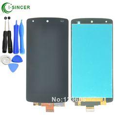 Cho lg google nexus 5 d820 d821 lcd hiển thị cảm ứng màn hình với digitizer hội đen + công cụ miễn phí vận chuyển