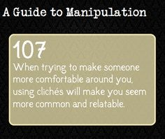 A Guide To Manipulation — What does it mean by that?