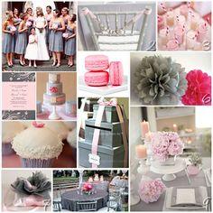 Decoração do casamento nas cores: cinza e rosa | Blog da Sofia