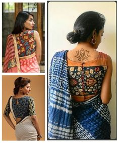 Beautiful Kalamkari blouse designs can add style statement to even a simple saree. Kalamkari Blouse Designs, Simple Sarees, Latest Trends, Pattern, Beautiful, Tops, Women, Style, Fashion