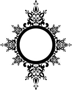 Beccys Place: Medallion Freebie to go with card previously pinned. Arabesque, Motifs Islamiques, Stencils, Stencil Patterns, Silhouette Projects, Silhouette Frames, Digi Stamps, Card Sketches, Copics