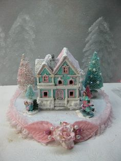 Putz like Victorian Christmas House and Bottle by KaysStudio