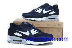 competitive price 62011 54a60 Vendre Pas Cher Homme Chaussures Nike Air Max 90 (couleur blanc,gris,bleufonce)  en ligne en France.