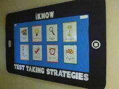Test taking strategies bulletin board.