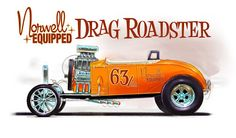 jeff norwell art | Check out more art about all sorts of hot rods and dragsters at http ...