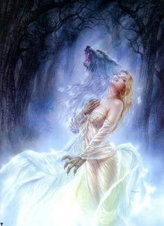 The Beautiful Gothic Fantasy Artwork of Luis Royo. Fantasy Girl, Dark Fantasy, Fantasy Wolf, Artwork Fantasy, Fantasy Paintings, Oil Paintings, Art Steampunk, Luis Royo, Vampires And Werewolves