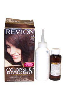 Revlon ColorSilk Hair Color [47], Medium Rich Brown 1 ea (Pack of ...
