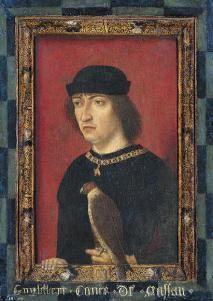 Meester van de Vorstenportretten, Graaf Engelbrecht II van Nassau, ca. 1490, olieverf op paneel, 33,5x24 cm, Amsterdam: Rijksmuseum, inv.nr. SK-A-3140