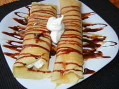 Will Cook For Smiles: Chocolate Caramel Cream Crapes Sweets Recipes, Just Desserts, Delicious Desserts, Snack Recipes, Yummy Food, Snacks, Crockpot Recipes, Crapes Recipe, Caramel Cheesecake Bites