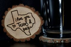 Handcrafted 'State  I Love You & Back' Woodburned by ZSDesign