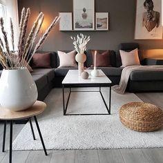 Beautiful Nordic living room inspiration in 2020 Nordic Living Room, Living Room Grey, Home Living Room, Apartment Living, Interior Design Living Room, Living Room Designs, Modern Small Living Room, Interior Livingroom, Brown Living Room Furniture