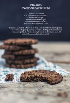 maapähkinävoikeksit / peanutbutter cookies