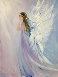Image result for angel acrylic painting