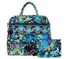 "Vera Bradley Travel Bag & Slim Cosmetic Case in ""Midnight Blues"