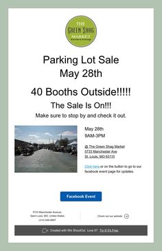 Parking Lot Sale  May 28th
