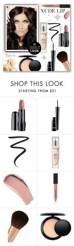 """Nude Lip"" by christinacastro830 ❤ liked on Polyvore featuring beauty, Lancôme, MAC Cosmetics, Eyeko, Burberry, Charlotte Tilbury and Bobbi Brown Cosmetics"