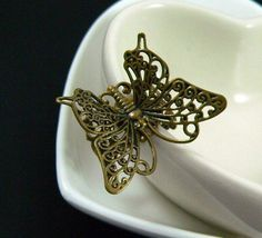 Butterfly Kiss  Whimsical Butterfly Ring on by SeventhFloorDesign, $8.00