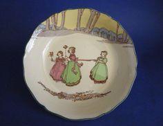 Royal Doulton Rare 'Springtime' Series Child's Bowl D3119 c1932